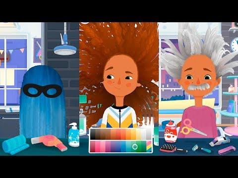 Смешные прически для девочек в игре про прически Toca Hair Salon 3