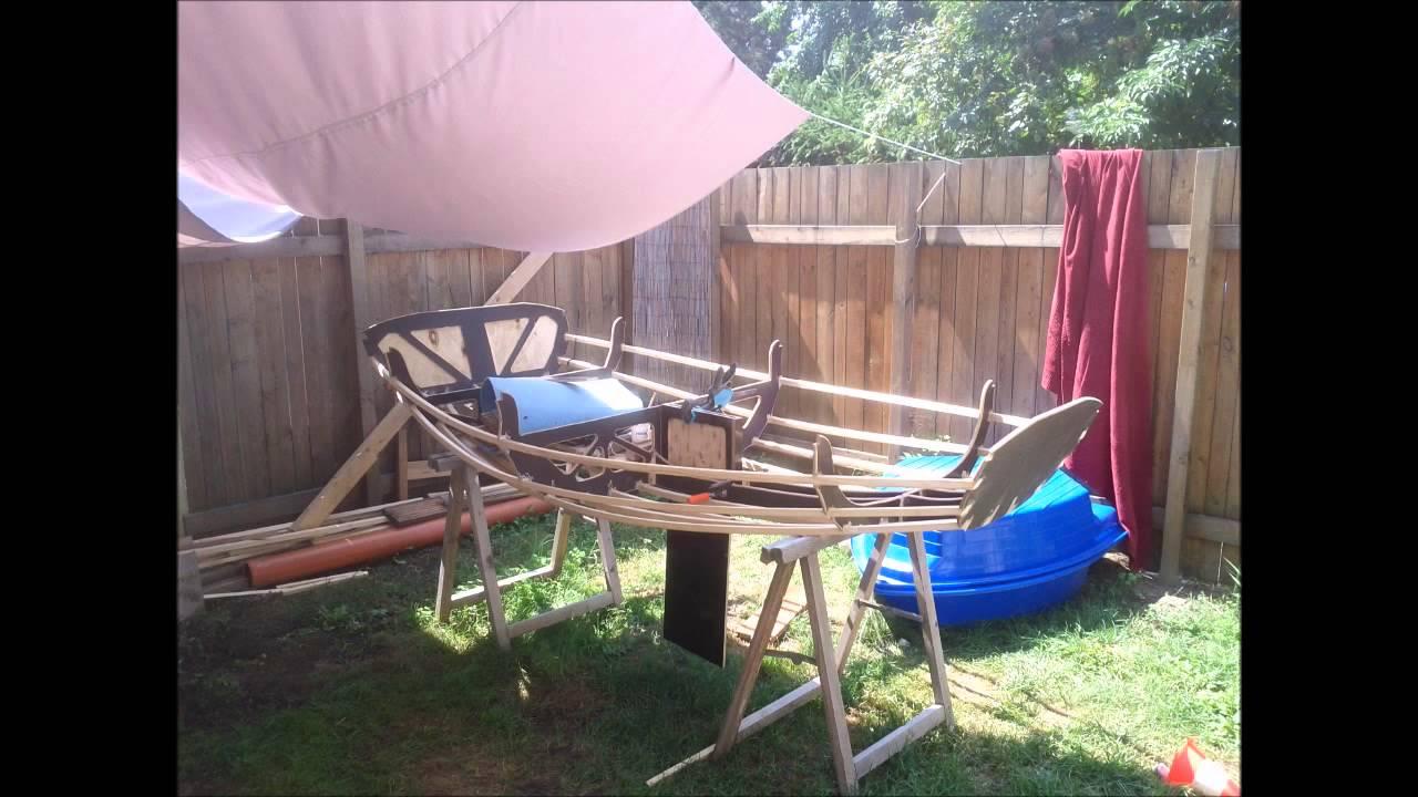 homebuilt SOF (skin on frame) sailing dinghy with mirage drive ...