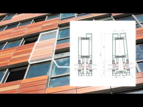 Elegance 72 aluminium unitised curtain wall system