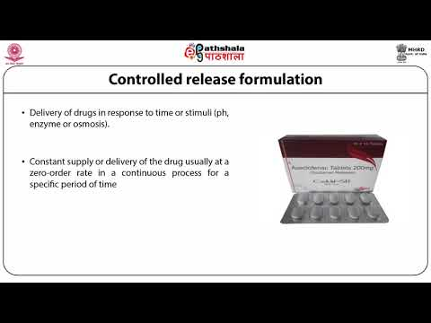 Introduction to Controlled Release drug delivery system