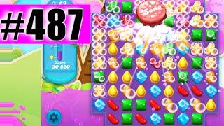 Candy Crush Soda Saga Level 487 NEW | Complete!
