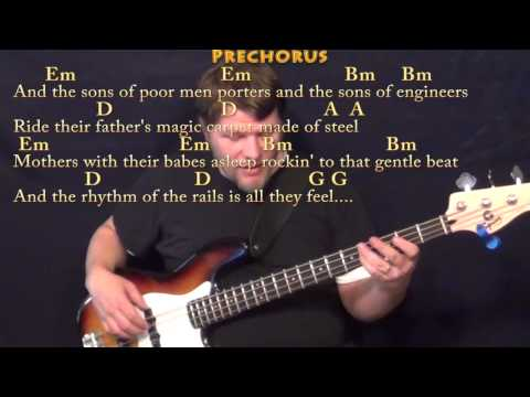 The City of New Orleans (Arlo Guthrie) Bass Guitar Cover Lesson with Chords/Lyrics