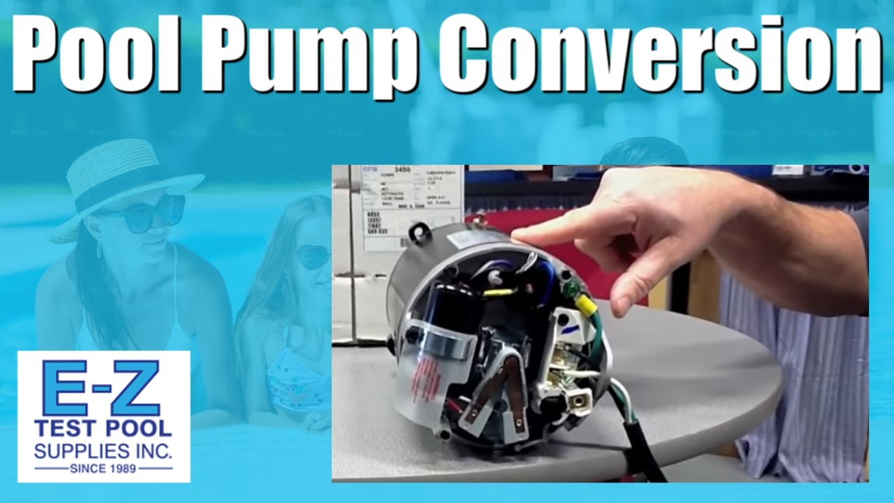 Convert an Inground Pool Pump Motor from 115v to 230v - YouTube