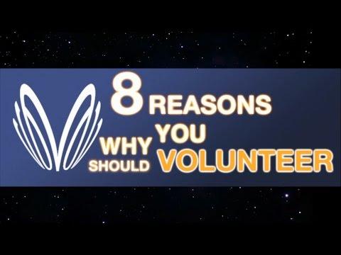 8 REASONS TO VOLUNTEER!