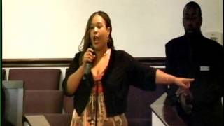 "Keisha Hamby singing "" My God Is Real "" @ Heart of God Ministries"