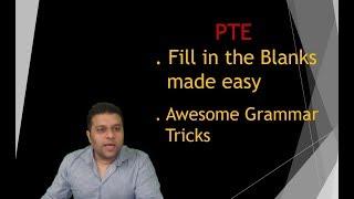 PTE Reading Tips - Fill in the blanks - Grammar Tricks