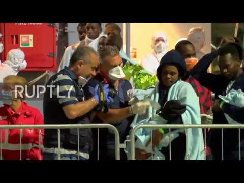 Italy: 106 migrants arrive in Messina by...