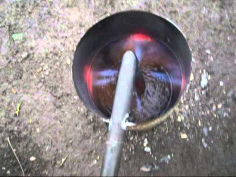 Poele huile de vidange waste oil stove gasifier syngas - Huile de paraffine pour bois ...