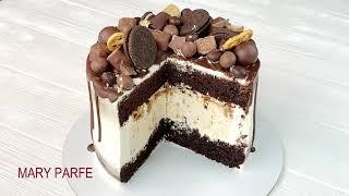 Торт Сникерс с ЧИЗКЕЙКОМ ВНУТРИ Брутальный Шоколадный торт Chocolate Cake SNİCKERS тортсникерс