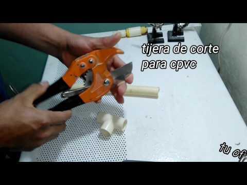 Como pegar o unir tubería de c-pvc (cpvc) HD