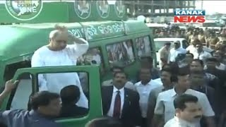 Naveen Patnaik Gets Grand Welcome In Bhubaneswar After Receiving Ideal CM Award