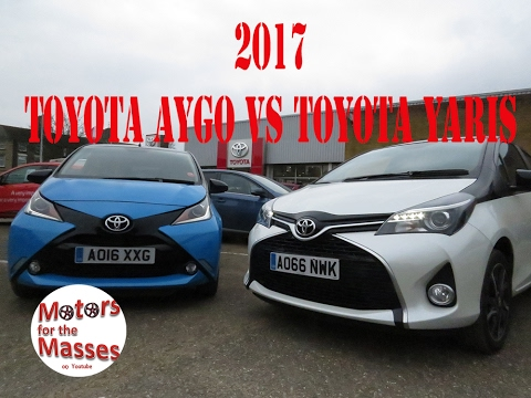 2017 toyota aygo vs 2017 yaris test review first or family car youtube. Black Bedroom Furniture Sets. Home Design Ideas