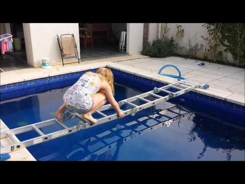 desafio da piscina com escada