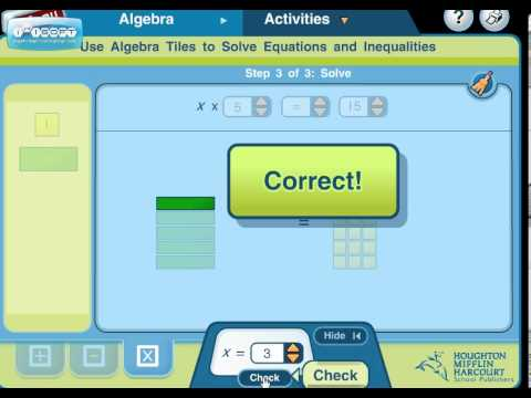 Model Solving Multiplication Equations Using Tiles 1 - YouTube