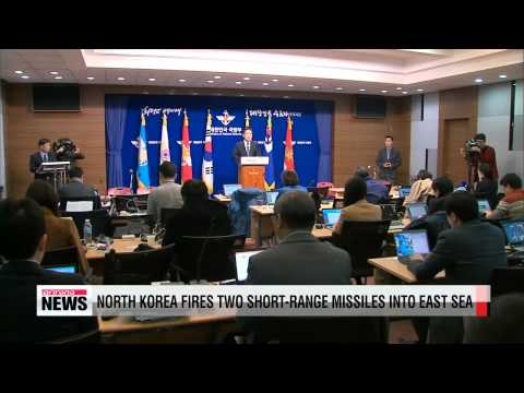 North Korea fires two short-range missiles into East Sea