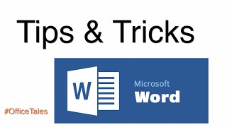 Microsoft Word Tips & Tricks | #OfficeTales