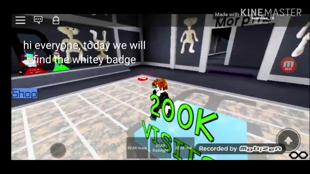 How To Get The Whitey Badge In Bear Alpha Roleplay Youtube