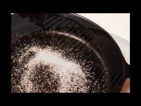 how to clean cast iron grill pan youtube. Black Bedroom Furniture Sets. Home Design Ideas