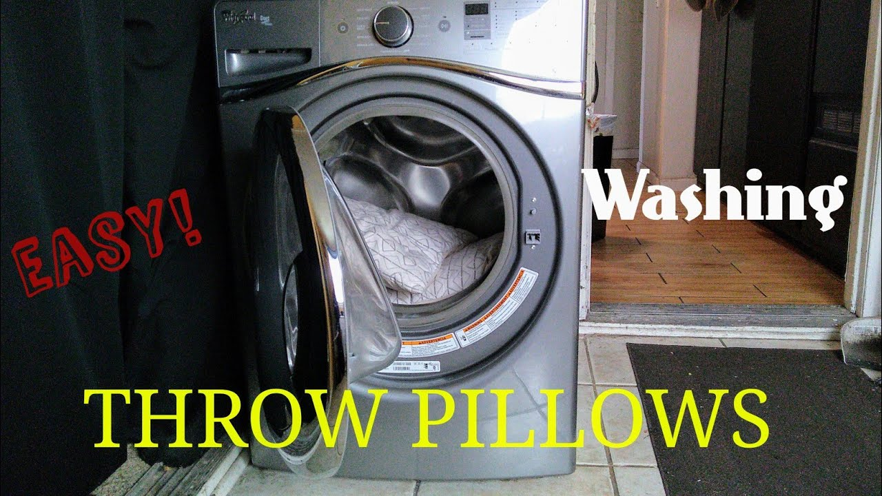 How To Wash And Dry Throw Pillows YouTube