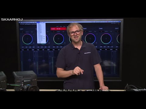ATEM Hardware CCU Lite Panel for BMD Cameras by SKAARHOJ