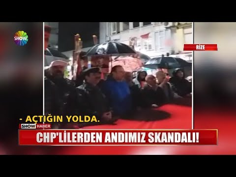 CHP'lilerden andımız skandalı!