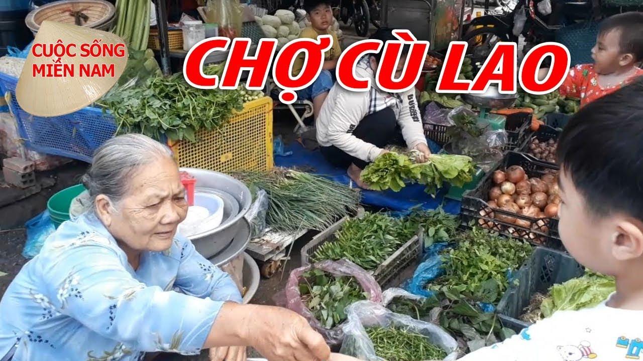 ĐI CHỢ CÙ LAO : CHỢ QUÊ MIỀN TÂY | Nam Việt | Viet Nam Travel || PHẦN 1