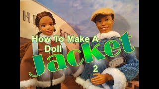 Doll Crafts-  How To Make A Doll Jacket