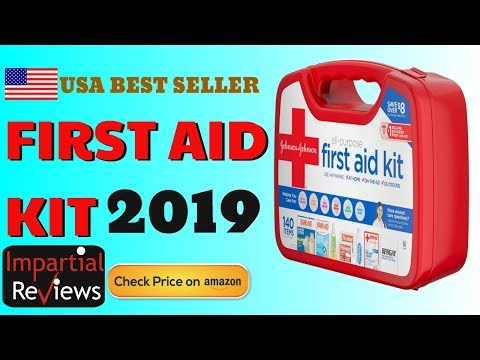 First Aid Kit 2019 | Johnson & Johnson All-Purpose Portable Compact Emergency First Aid Kit, 140 pc