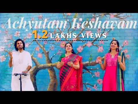 Achyutam Keshavam Krishna Damodaram (Art of Living) - Aks & Lakshmi, Padmini Chandrashekar