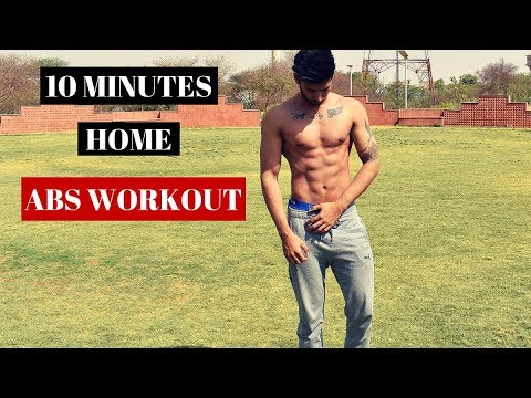 Home Abs Workout | 10 Minutes Six Pack Abs Workout (in Hindi)