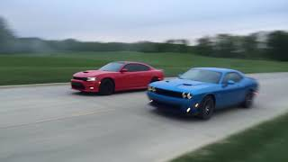 Scatpack Chargers vs Scatpack Challengers! Which is faster?