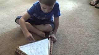 Maddie, 6, and Tommy, 4, Play Their Zithers in World of Harmony Music Classes