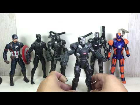 Marvel Legends War Machine and Mark 27 Disco Armor Iron Man Toy Review