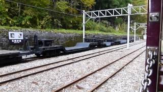黒部峡谷鉄道 トロッコ列車乗車 出平駅付近
