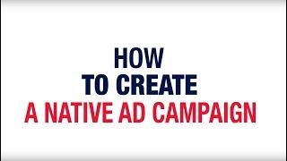 Het Maken van een Native Advertentie Campagne
