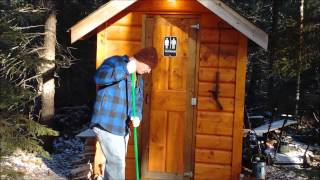 Tent Maintenance Cleaning The Outhouse