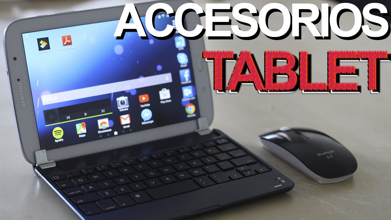 46560949b66 ¿Cómo transformar tu tablet en un ultraportátil? Teclado y ratón Bluetooth para  Android. Review [HD] - YouTube