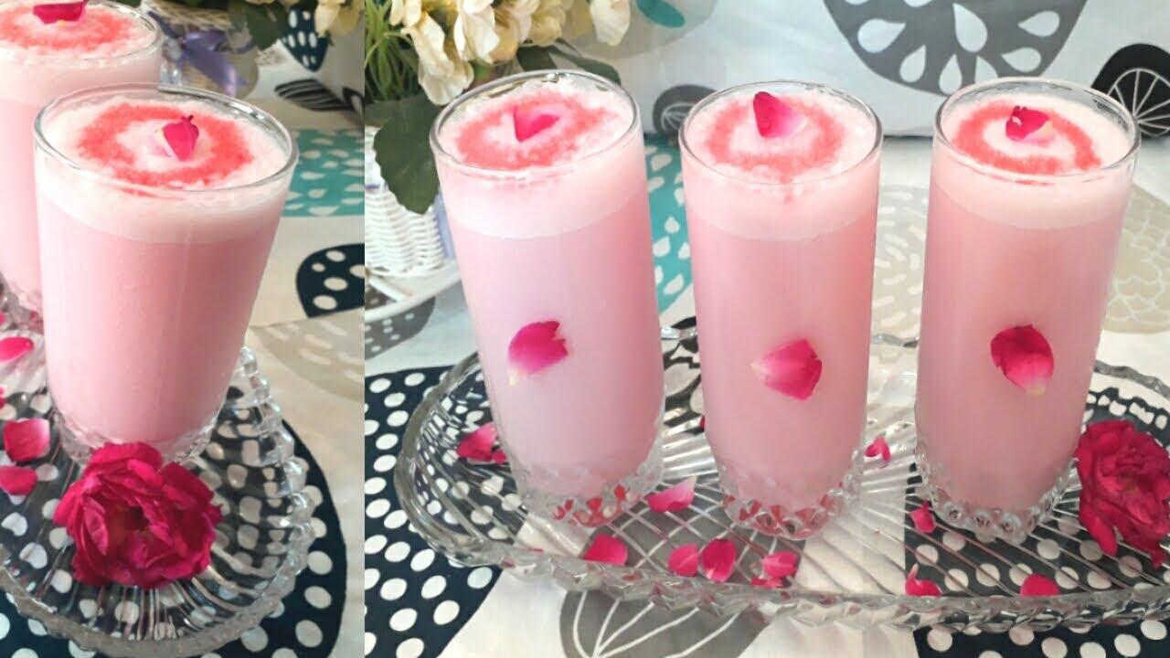 Fresh Rose Lassi Recipe | Summer special recipe | Gulab Lassi