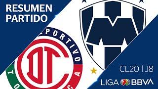 Resumen | Toluca 2 - 0 Monterrey | Jornada 8 - Clausura 2020 | Liga BBVA MX