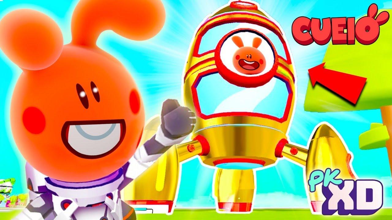 A MINHA NOVA CASA FOGUETE NO PK XD  !!! | Cueio gameplay Cartoon Character VTuber