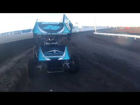Heat 2. Justin looked good. 2 yellows slowed the momentum a little. - dirt track racing video image