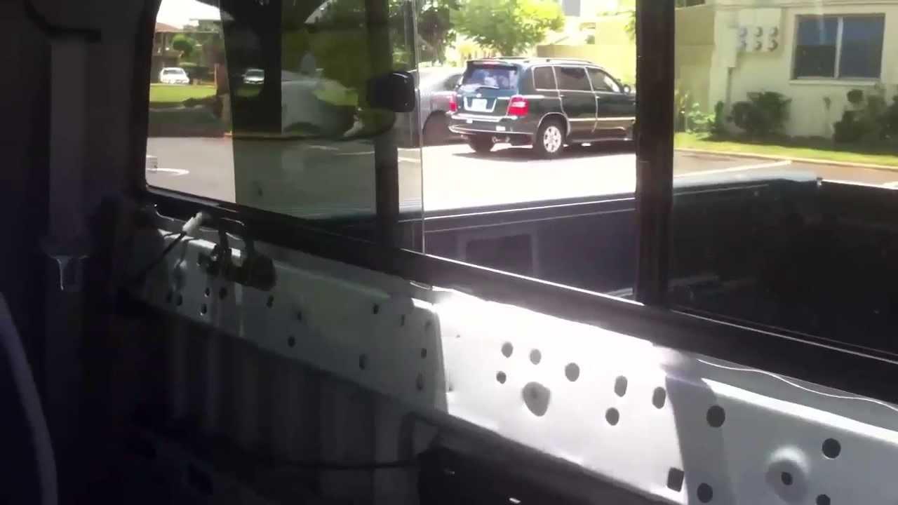 2016 Toyota Tacoma Access Cab >> Tacoma Access Cab power sliding rear glass - YouTube