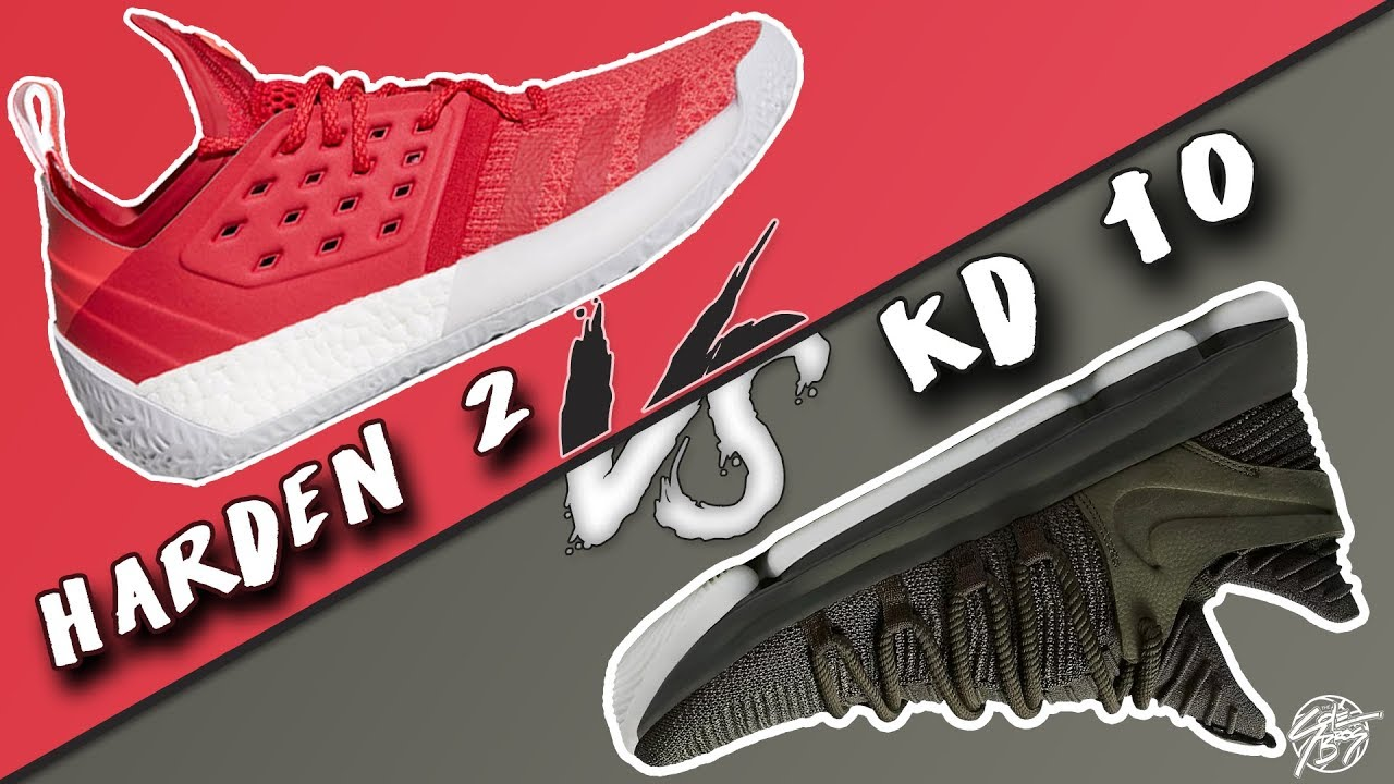 Adidas James Harden Vol. 2 vs Nike KD 10! - YouTube 34d62e86d