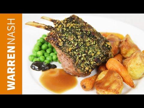 Sunday Roast Dinner Recipe Ideas - With Rack of Lamb - Recipes by Warren Nash