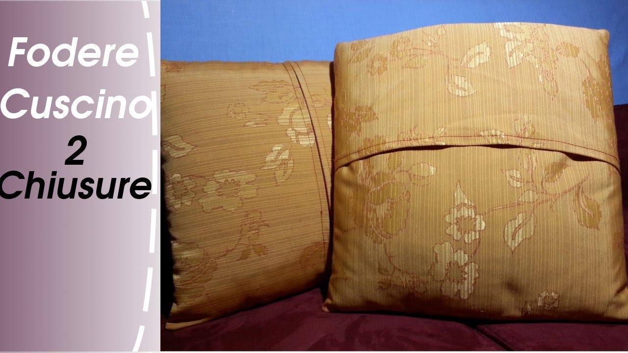 Come Confezionare Un Cuscino Per Sedia.Come Cucire Una Fodera Per Cuscino Due Tipi Di Chiusura Youtube