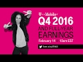 T-Mobile Q4 & Full-Year 2016 Earnings Call: Behind-the-Scenes Live Stream