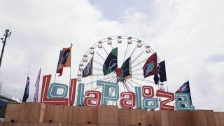 Visita à montagem do Lollapalooza