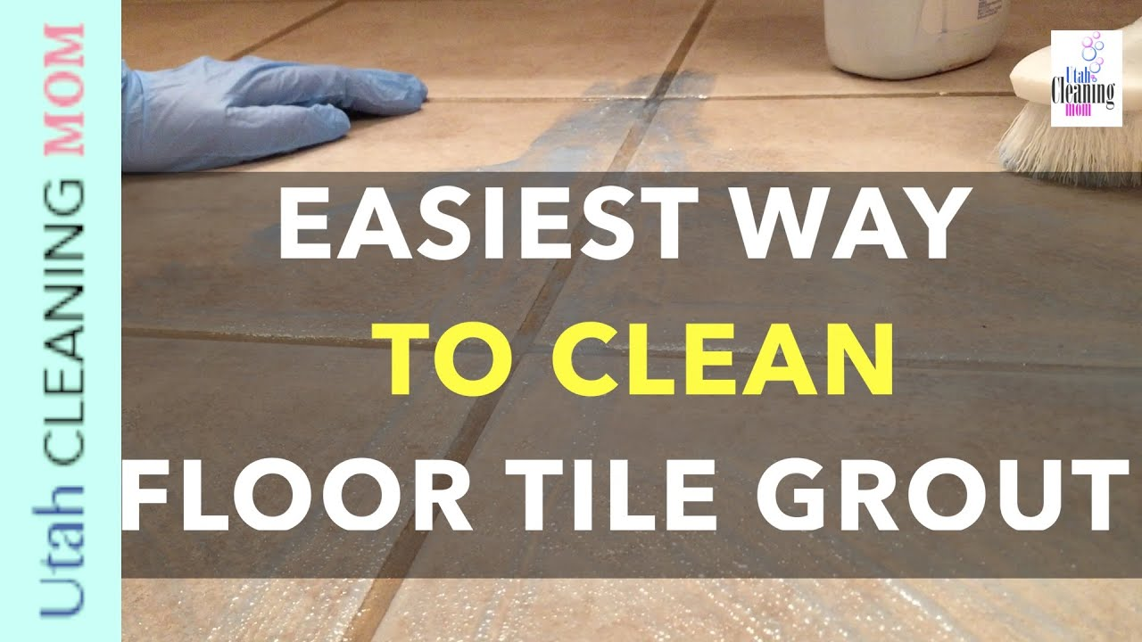 easiest way to clean floor tile grout - youtube
