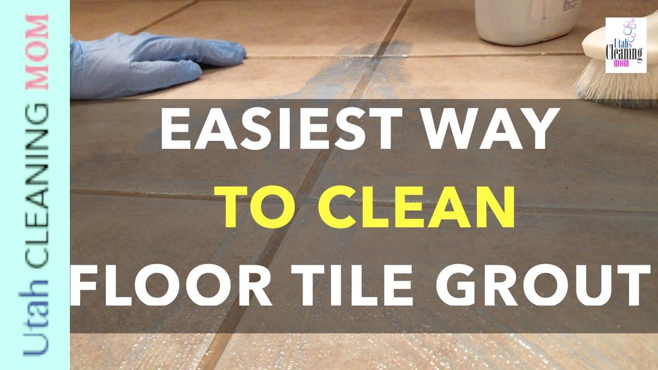 Easiest Way to Clean Floor Tile Grout  YouTube