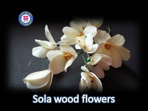 DIY/ How to make sola wood flowers / room decor ideas